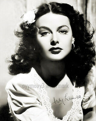 "Hedy Lamarr (actress, inventor) 8""x10"" Autographed Black & White Photograph"