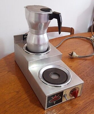 Vintage Vaculator Coffee Pot Warmer With Two Warming Plates. Made in USA