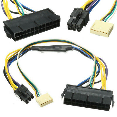 30cm 24 pin to 2-port 6 pin Power Cable Adapter for Motherboard HP Z220 Z230 SFF