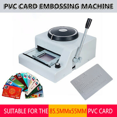 72 Character Letters Embossing Machine PVC Credit Card Stamping Embosser