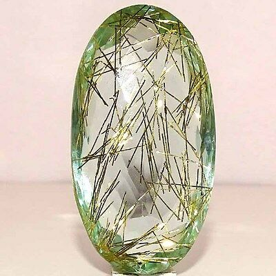 GORGEOUS GOLDEN NEEDLE DOUBLET RUTILE OVAL CABOCHON LOOSE GEMSTONES 183.20Cts.