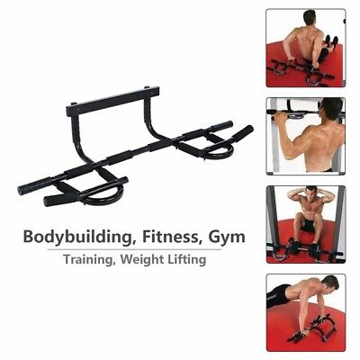 Portable Chin Up Bar Home Doorway Wall Mounted Pull Up Dip Abs Exercise Fitness