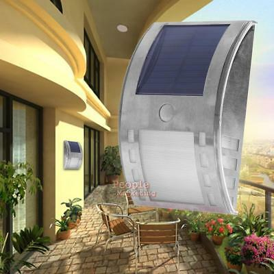 Waterproof  3-LED Solar Power PIR Motion Sensor Wall Light Outdoor Garden Lamp