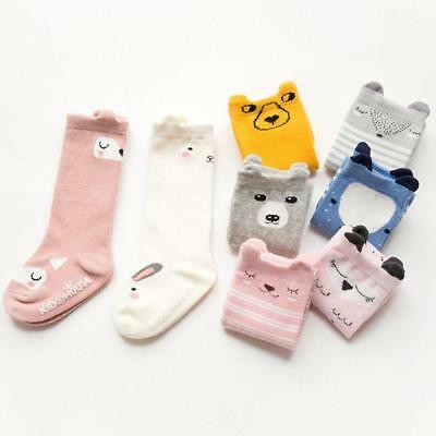 Toddler Kids Baby Girl Cute Knee High Long Socks Cotton Casual Party Stockings,