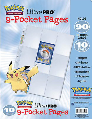ULTRA PRO Pokémon - 9-Pocket Trading Card Page Pack