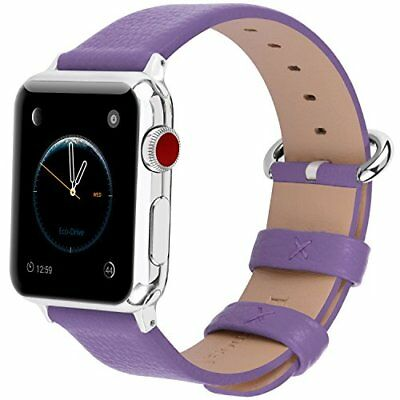 Watch Band For Apple Series 1/2/3 Sport & Edition Leather For Women-42mm Purple