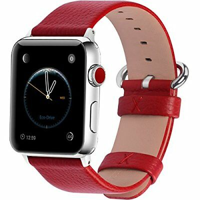 Watch Band For Apple Series 1/2/3 Sport Edition Leather For Women/Girls-42mm Red