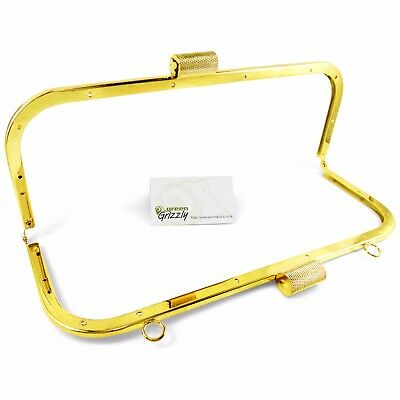 "Large Bag Purse Frame 12"" / 300 mm with loops Clutch kiss clasps lock B58"
