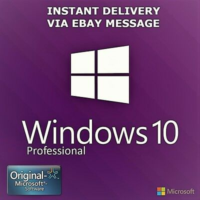 Windows 10 Pro 32 / 64Bit Professional Key Original Code Oem - Scrap Pc