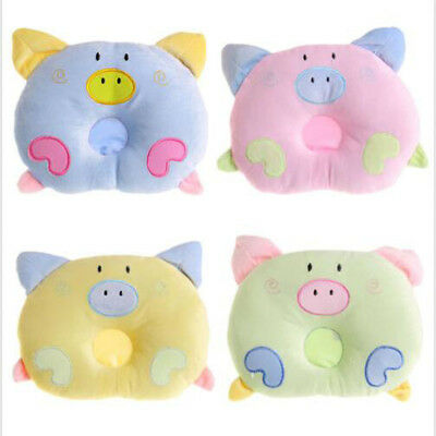 Baby Infant Pig Pillow Flat Head Prevent Sleeping Positioner Support Cushion