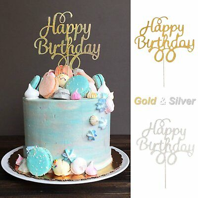 Cake Topper Happy Birthday Party Supplies Decorations Baby Shower Favors