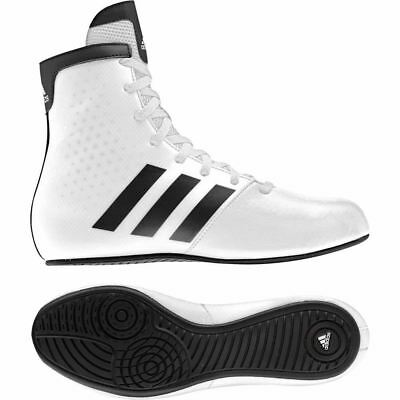 Adidas Kids KO Legend Boxing Boots Youth Junior Boys Girls Childrens Shoes White
