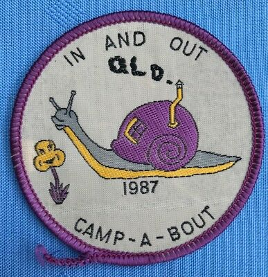 Girl guides badge: In And Out 1987 Camp-a-bout