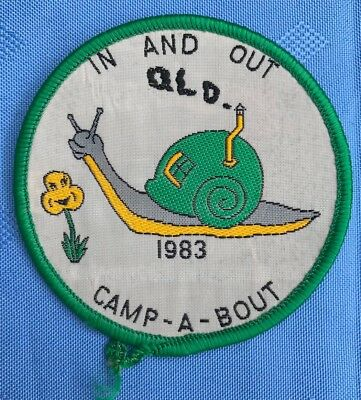 Girl guides badge: In And Out 1983 Camp-a-bout