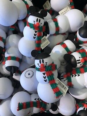 Mickey Mouse Snowman Christmas Holidays Car Antenna Topper Disney Parks NEW