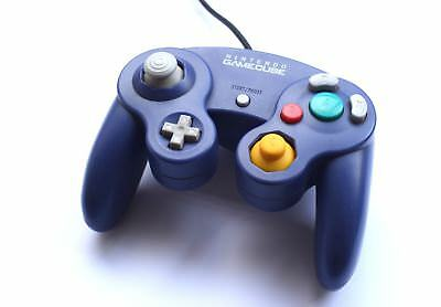 Official Original Nintendo GameCube Wired Gaming Controller Purple Game Pad