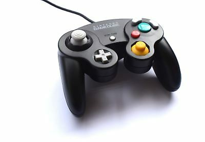 Official Original Nintendo GameCube Wired Gaming Controller Black Game Pad