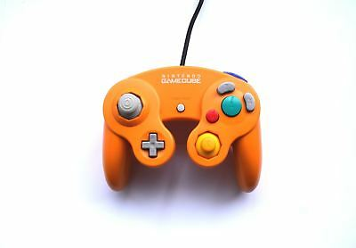 Official Original Nintendo GameCube Wired Gaming Controller Orange Game Pad