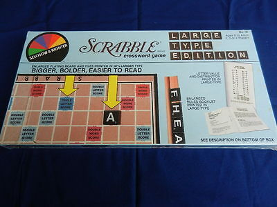 SCRABBLE Vintage Board Game Large Type Edition 1982 BRAND NEW