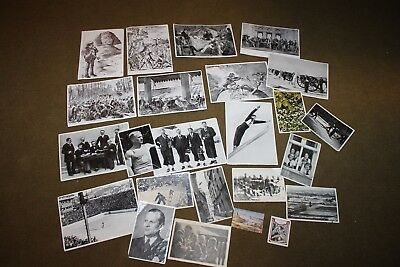 Original Lot of Pre to Early WW2 German Cigarette Album Cards, 24 in Total
