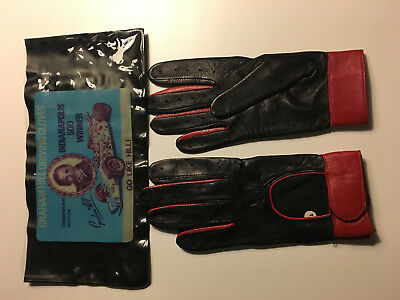 Graham Hills racing driving Gloves ,gants , speedwell, Les Leston, London
