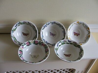 "Portmeirion Botanic Garden Set Five 5.5"" Mini Basin Bowls - Unused"