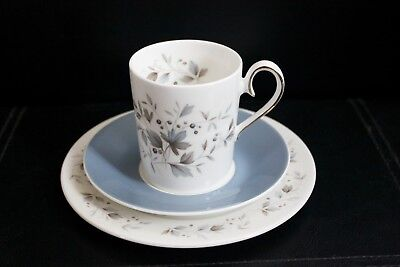 Vintage Ridgway 'Graywood' bone china coffee cup, saucer & side plate