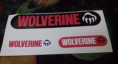 set of 3 stickers from the WOLVERINE footwear company