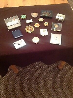 job lot of compacts,pill boxes and mirrors