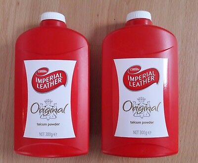 2 x 300g Bottles Cussons Imperial Leather Original Talcum Powder - NEW!