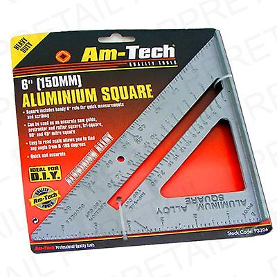 """6"""" Metal Square Angle Finder Mitre Protractor Rafter"""