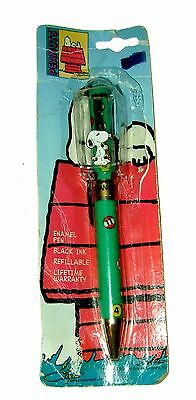 Vtg RARE Pool Shooting SNOOPY PEANUTS Stylus Writing Pen! New In Package!