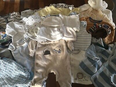 VGC Bundle Of Baby Boys Clothes. Newborn To 0-3 Months. Next/Mothercare Etc