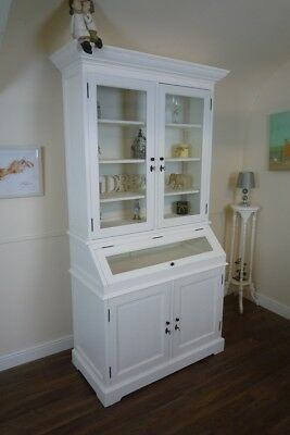 French Farmhouse Kitchen Dresser In Vintage White