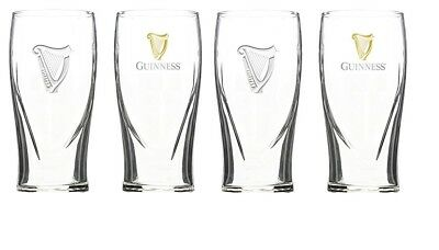 Guinness Irish Pint Beer Glasses 16oz Set of 4 291611