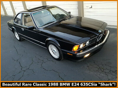 1988 BMW 6-Series  RARE COLLECTIBLE 1988 BMW E24 CHASSIS 635CSI. 99.99% RUST-FREE CLASSIC SHARK!