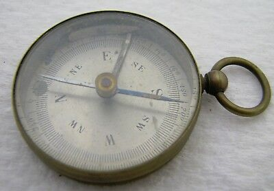 Antique Brass Made In France Pocket Compass