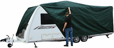Andes Green 14-17FT Heavy Duty Deluxe Breathable Waterproof Caravan Cover