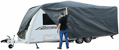 Andes Grey 19-21FT Heavy Duty Deluxe Breathable Waterproof Caravan Cover