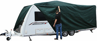 Andes Green 17-19FT Heavy Duty Deluxe Breathable Waterproof Caravan Cover