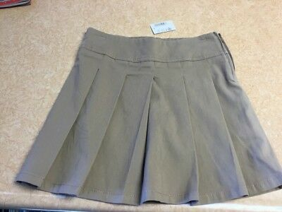 Girls NWT 6X/7 Plus Tan Pleated Skort by The Childrens Place