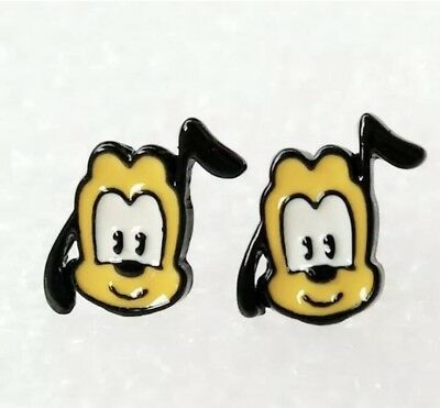 Disney/'s TSUM TSUM Inspired Winnie The Pooh Pluto Dog Character Metal Enamel Stud Earrings Great Gift