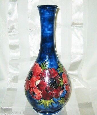 Moorcroft - Anemone - Tall Bottle Vase 12 3/4""