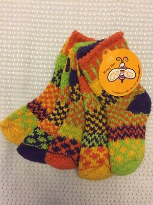 Solemate Mismatched Socks Honey Bee 2 Pair With A Spare NWT Kids 12-24 Months