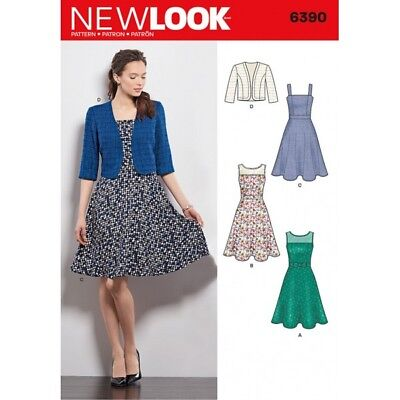 New Look Misses' Dresses with Full Skirt and Bolero Sewing Pattern 6390