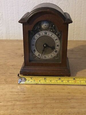 Miniature Walnut Bracket Clock Davall England Unusual Item