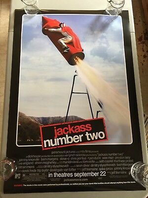 Jackass Number Two - Original Double Sided 27x40 Theater Movie Poster