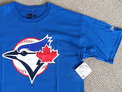 M L XL NEW ERA BLUE JAYS OFFICIAL MLB Baseball T Shirt Strong Cotton Royal Blue