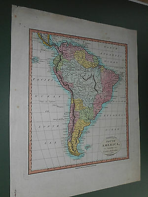 100% Original South America Map By W Darton C1807 Vgc Low Postage
