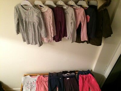 toddler girl bundle size 18-24 months good condition coat tops bottoms